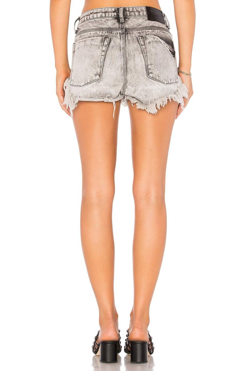 One Teaspoon Rollers Denim Shorts - Front Full Image