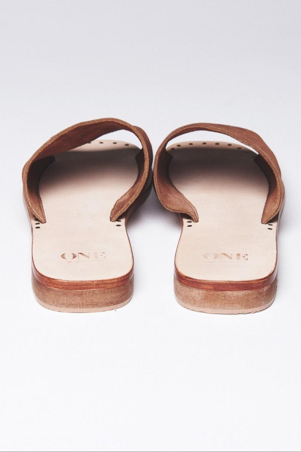One Teaspoon Suede Slide-On Sandal - Front Full Image