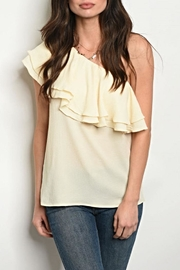 gaia Oneshoulder Cream Blouse - Product Mini Image