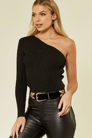 Urban Touch Oneshoulder Knitted Top - Front full body