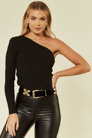 Urban Touch Oneshoulder Knitted Top - Product Mini Image