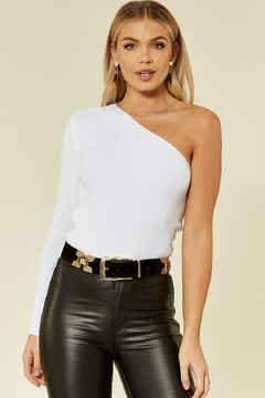 Urban Touch Oneshoulder Knitted Top - Product List Image