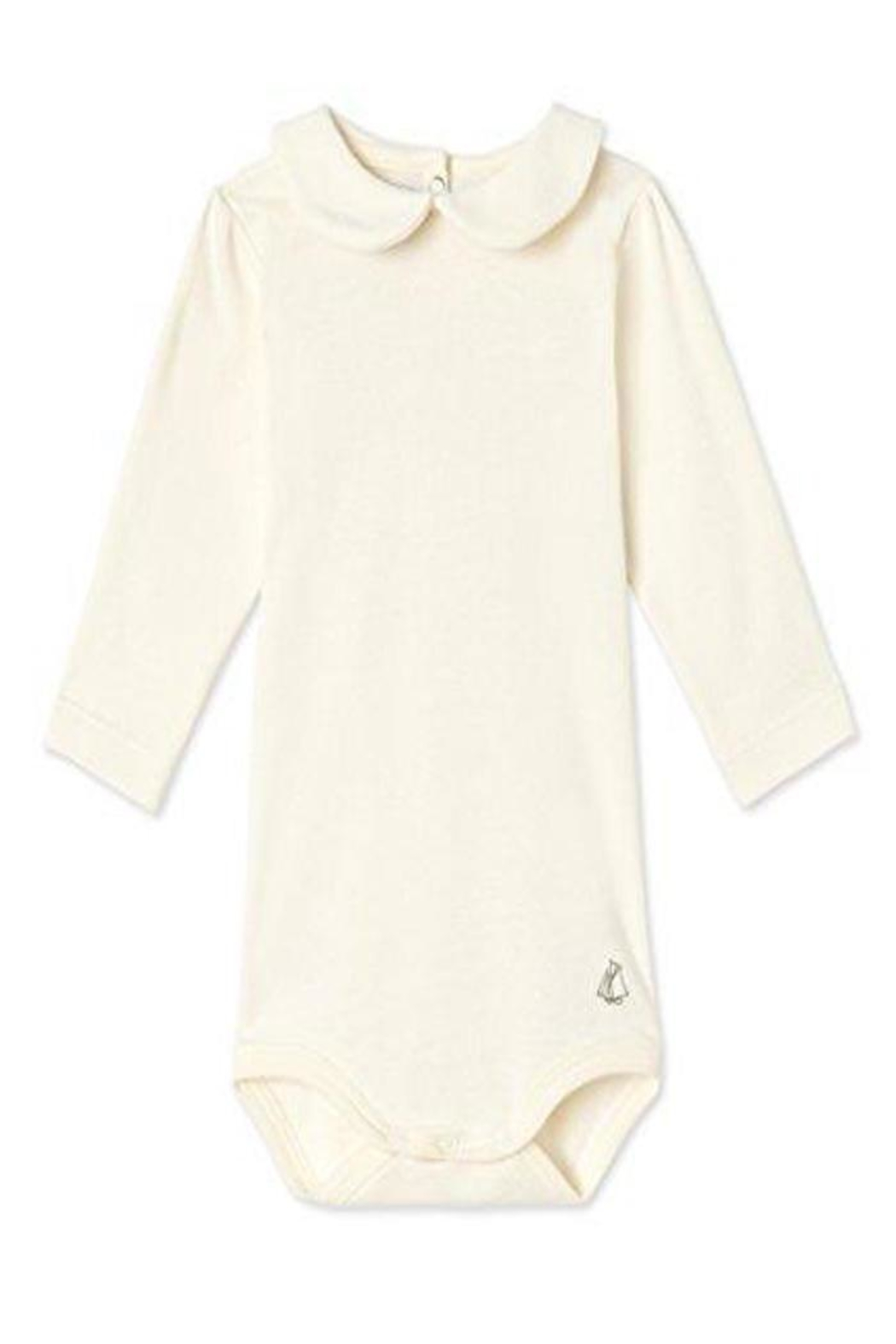 Petit Bateau Onesie With Collar - Front Cropped Image
