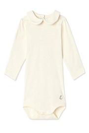Petit Bateau Onesie With Collar - Front cropped