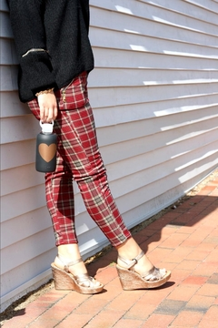 Shoptiques Product: Onesize Plaid Leggings