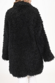 onetheland Black Fur Jacket - Back cropped
