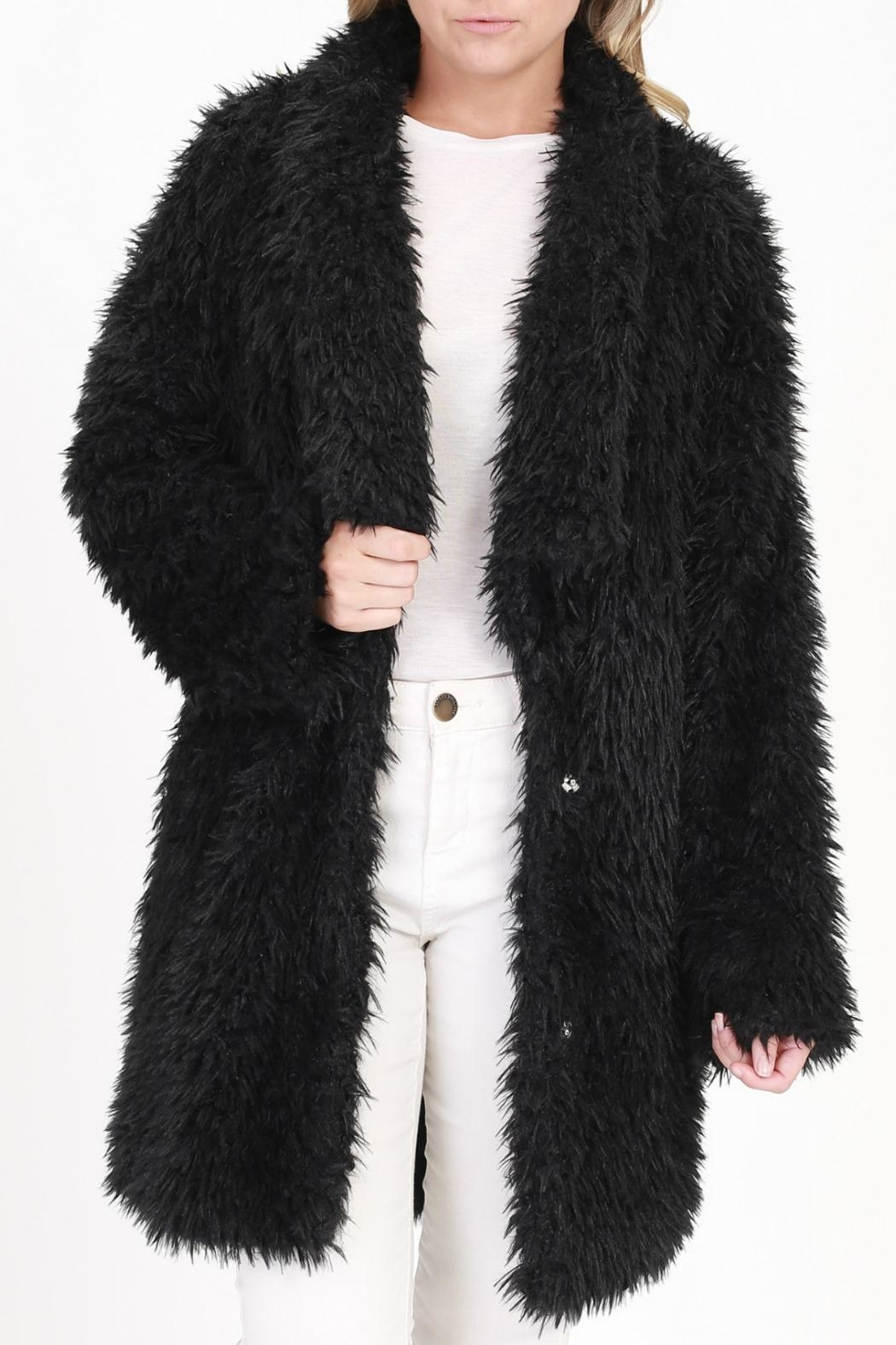 onetheland Black Fur Jacket - Main Image