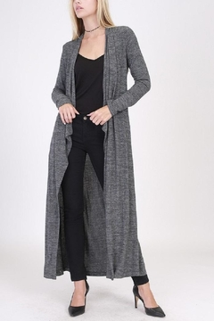 Shoptiques Product: Charcoal Knit Cardigan