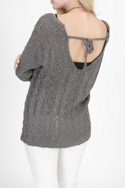 onetheland Charcoal Wrap Sweater - Front full body