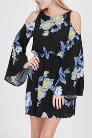 onetheland Cold-Shoulder Bell-Sleeve Dress - Product Mini Image