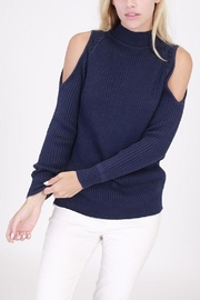 onetheland Cathy Cold Shoulder Sweater - Front cropped