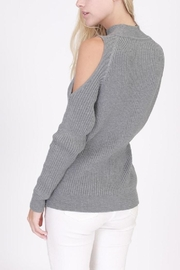 onetheland Cathy Cold Shoulder Sweater - Front full body
