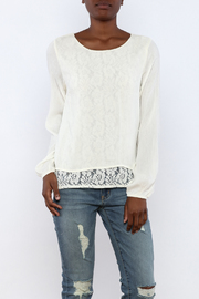 onetheland Cream Gauze Blouse - Product Mini Image