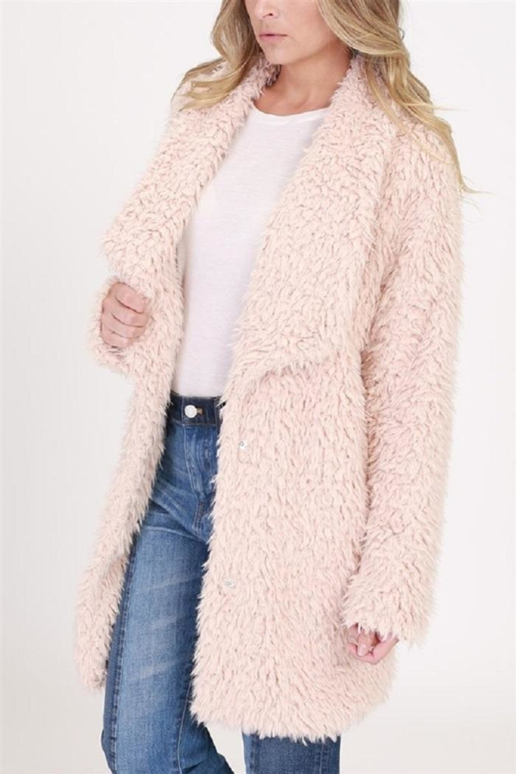 onetheland Faux Fur Jacket - Side Cropped Image