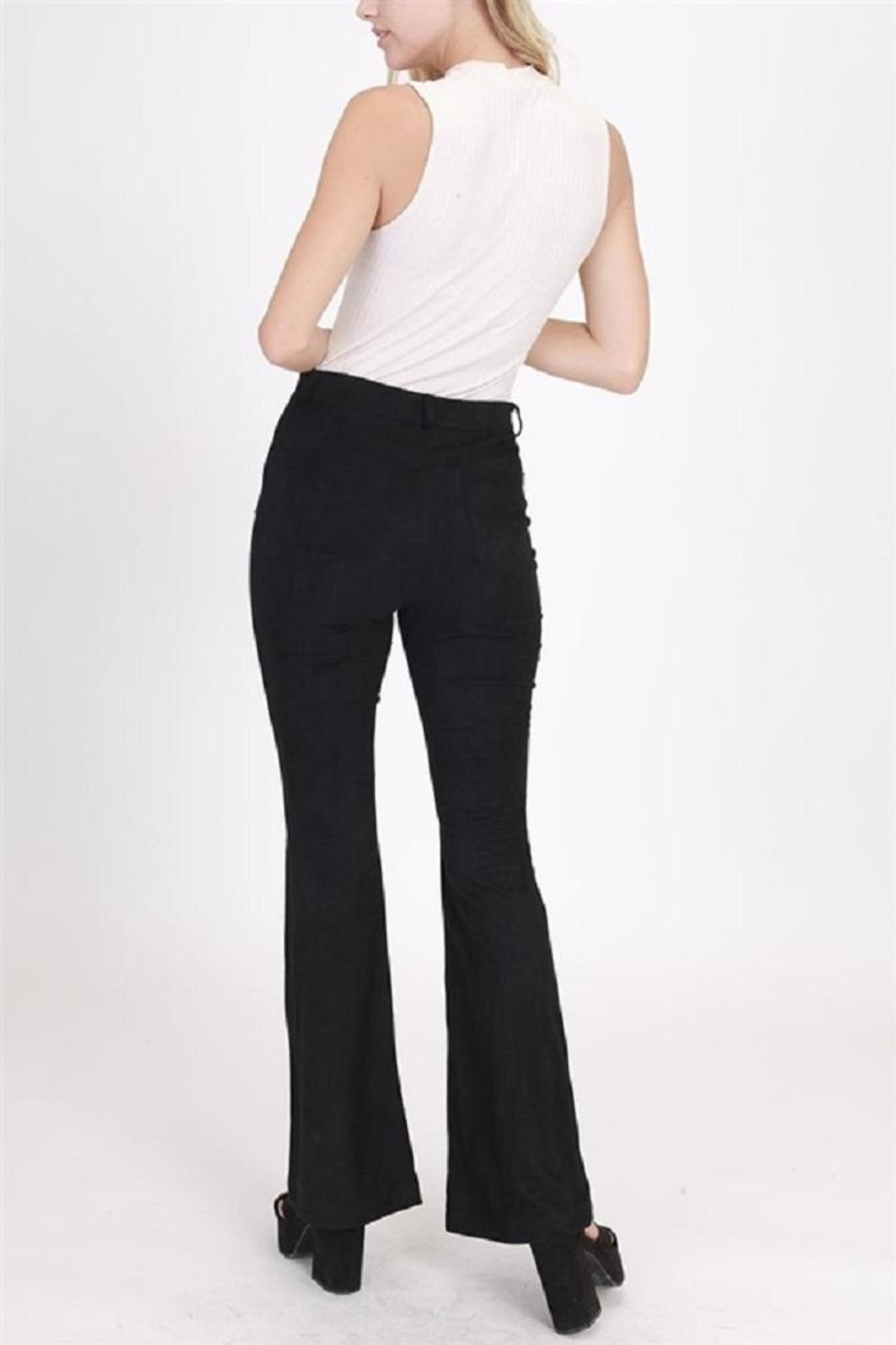 onetheland Faux Suede Pants - Side Cropped Image