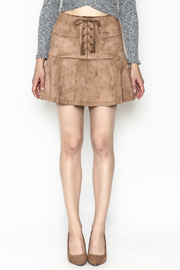 onetheland Faux Suede Skirt - Front full body
