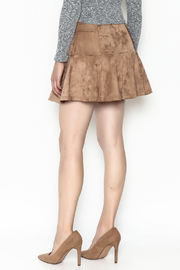 onetheland Faux Suede Skirt - Back cropped