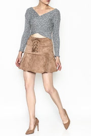 onetheland Faux Suede Skirt - Side cropped