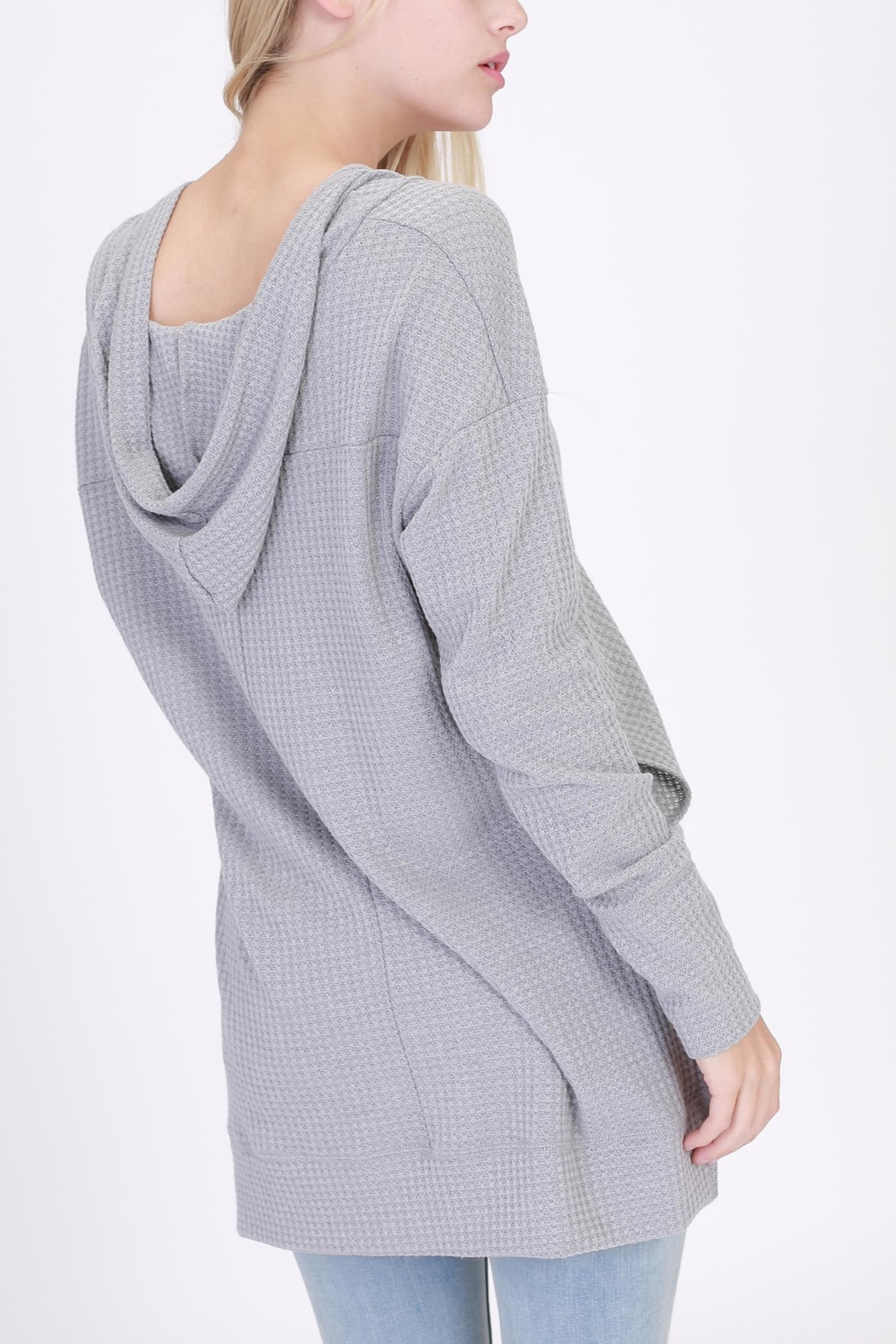onetheland Hooded Long Sleeve Top - Front Full Image