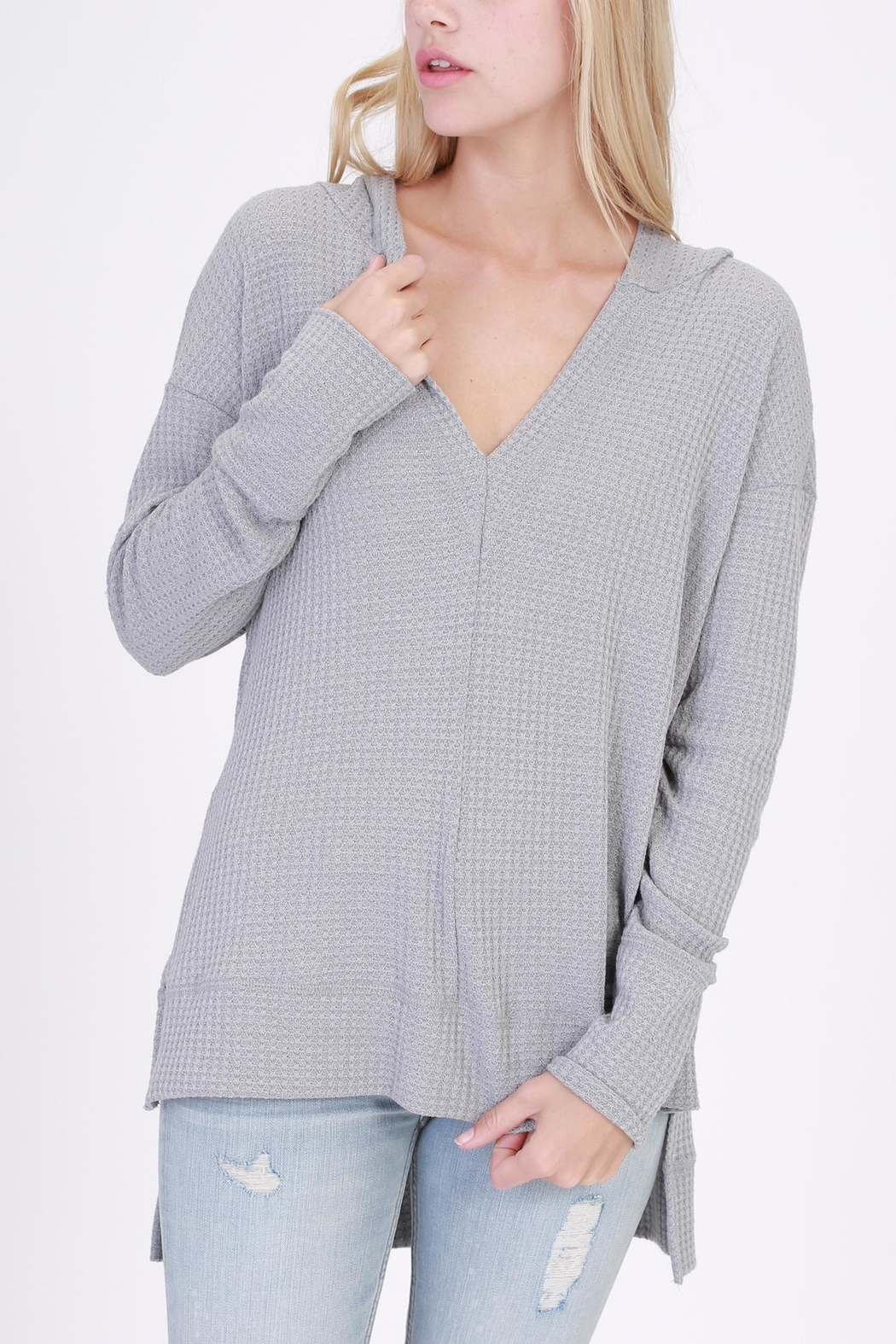 onetheland Hooded Long Sleeve Top - Front Cropped Image