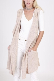 onetheland Knit Sweater Hoodie Vest - Front cropped
