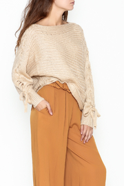 onetheland Lace Up Sleeve Sweater - Product Mini Image