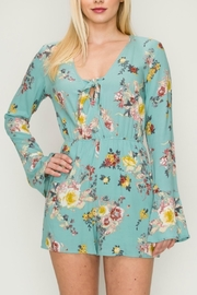 onetheland Light-Blue Floral Romper - Product Mini Image