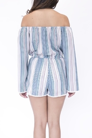 onetheland Multicolor Striped Romper - Front full body