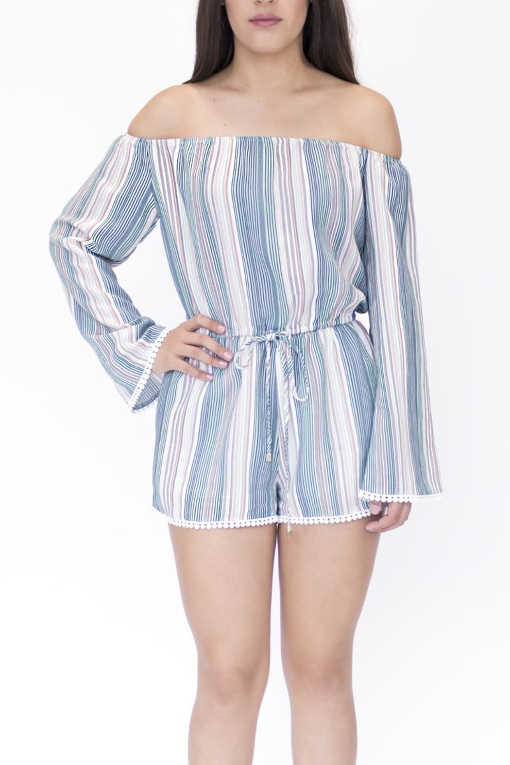 onetheland Multicolor Striped Romper - Main Image