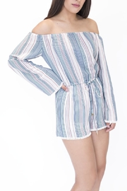onetheland Multicolor Striped Romper - Side cropped