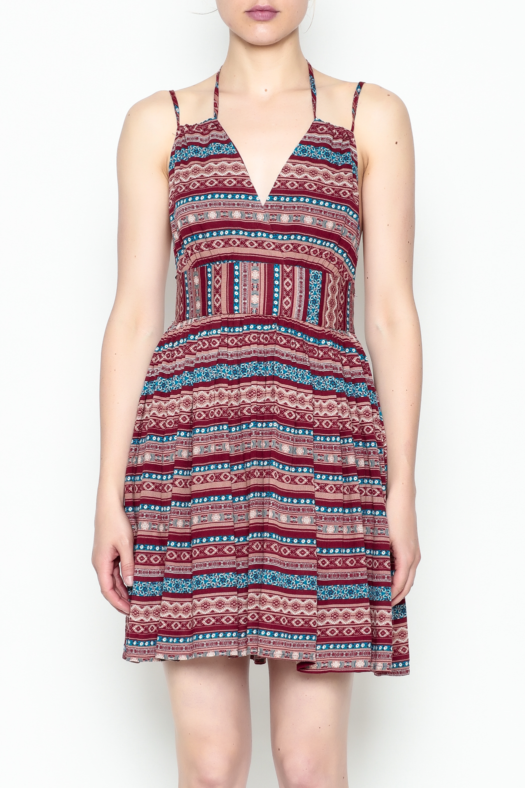 onetheland Print Tassle Dress - Front Full Image