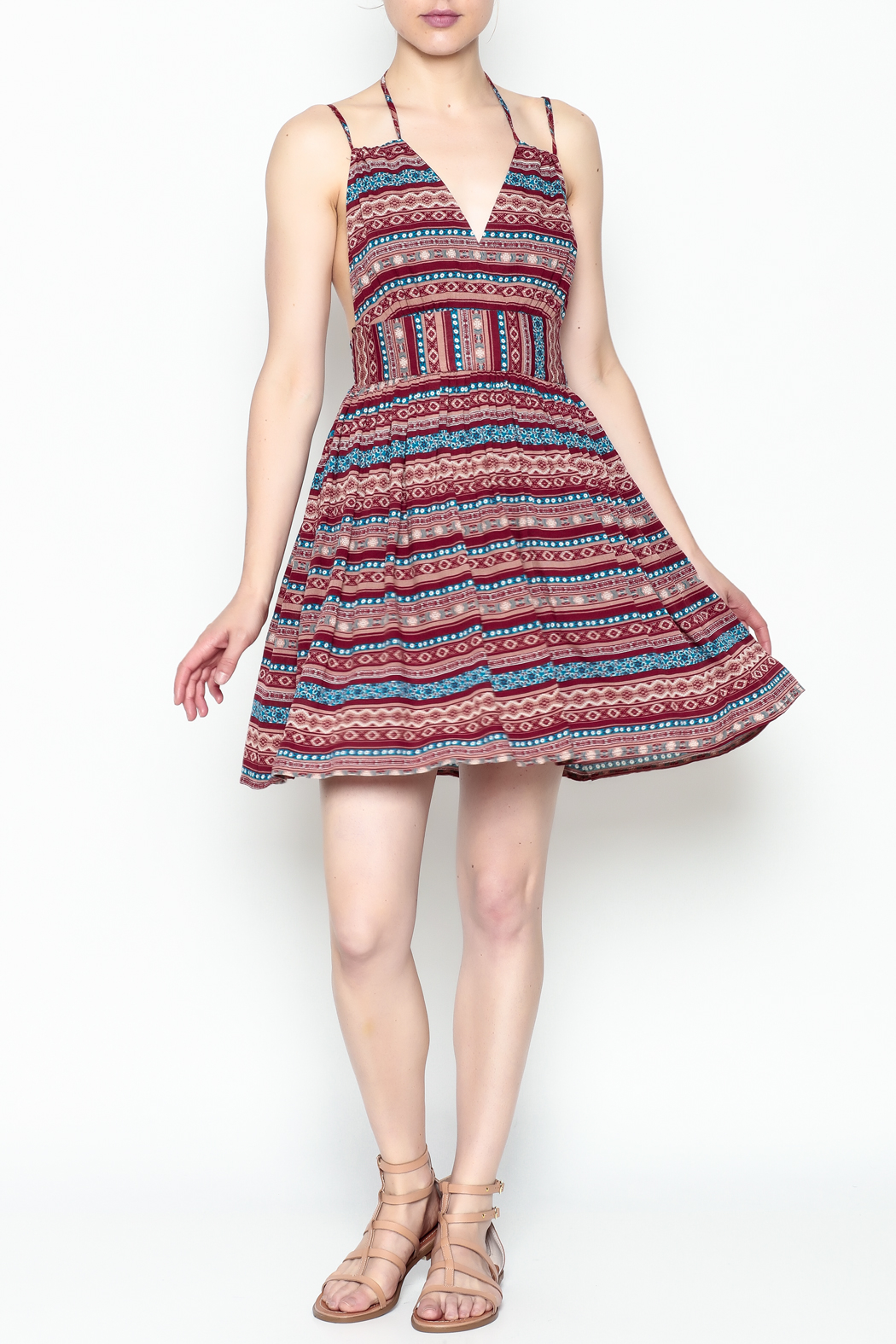 onetheland Print Tassle Dress - Side Cropped Image