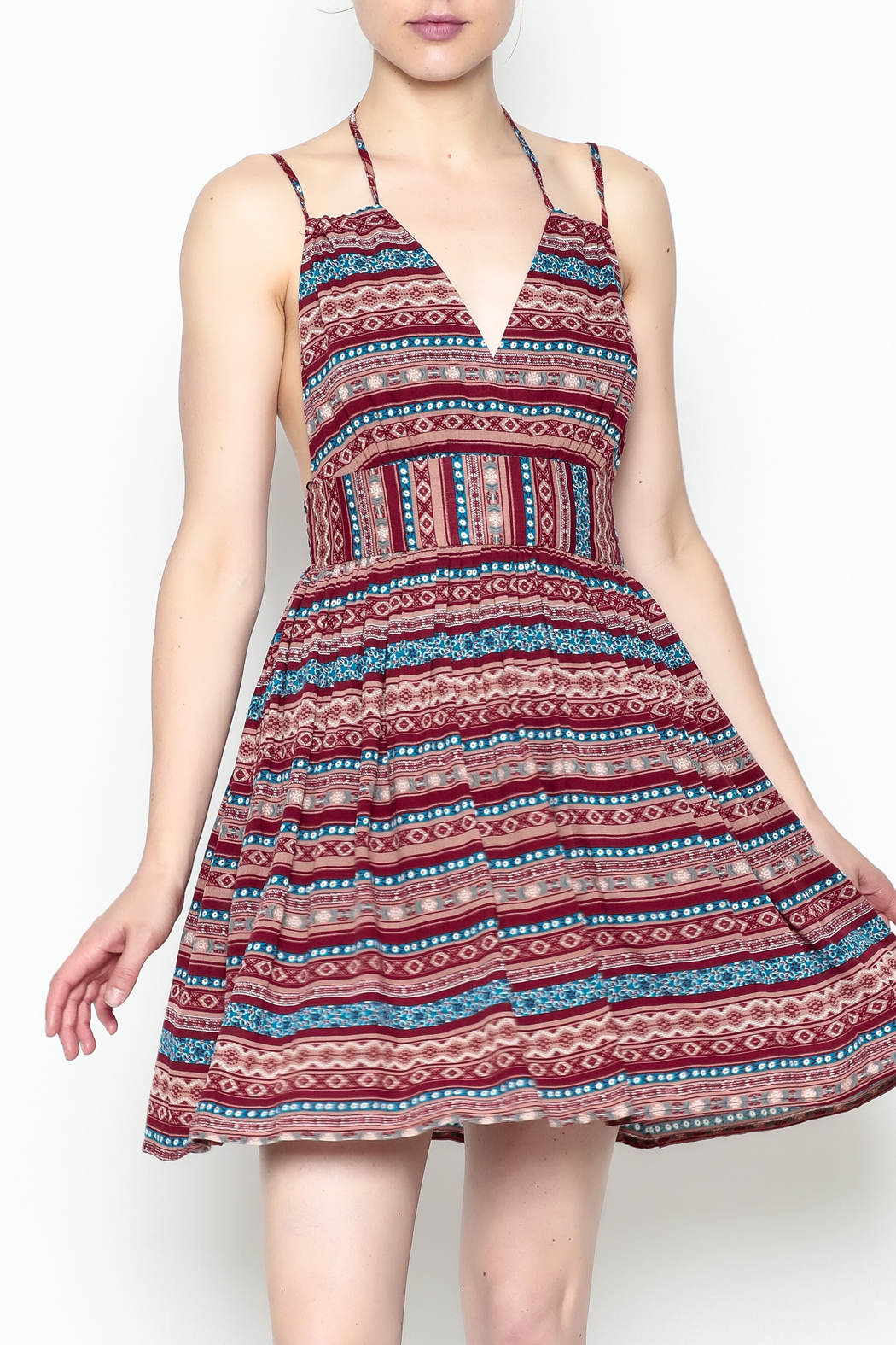 onetheland Print Tassle Dress - Main Image