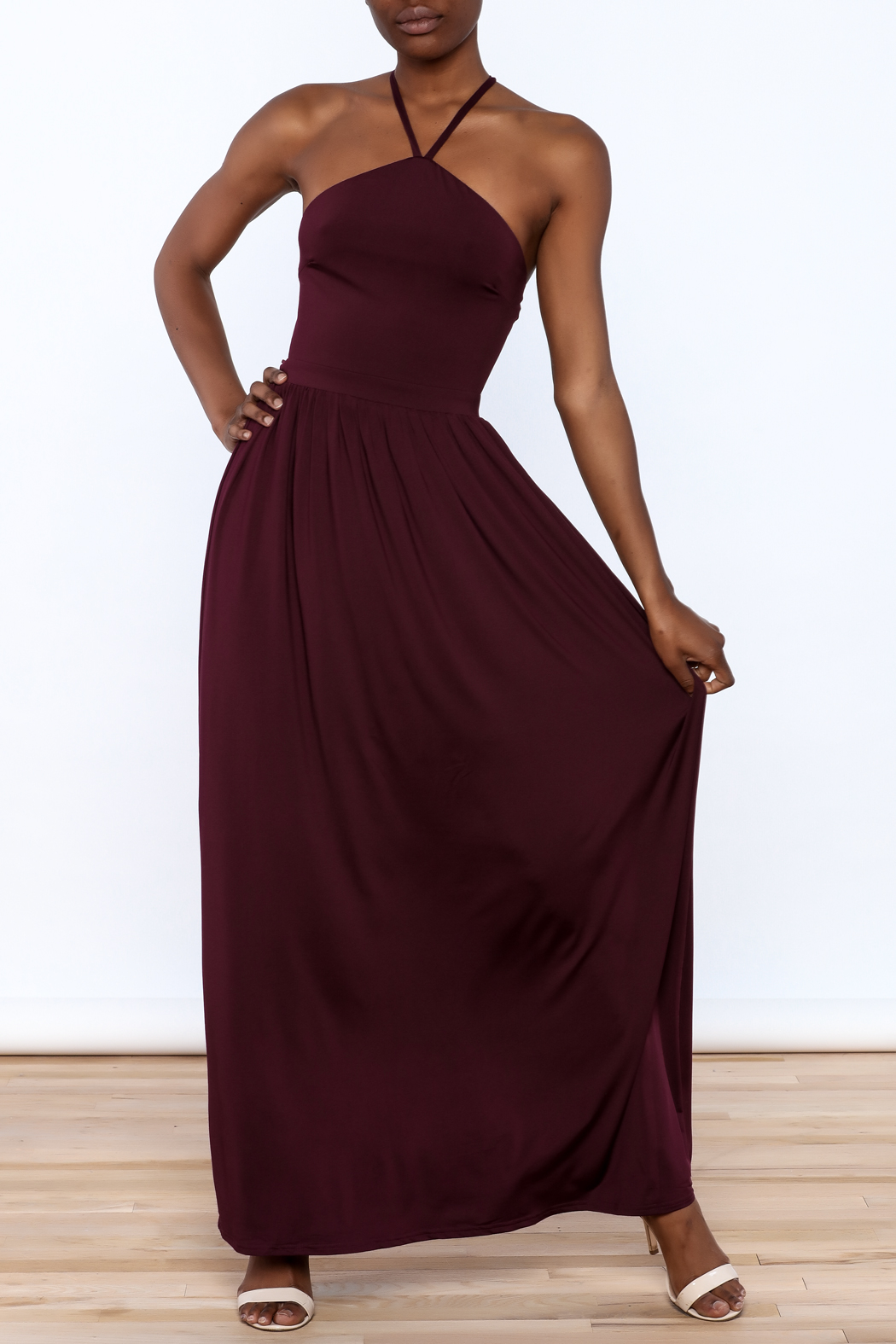 onetheland Purple Maxi Dress - Main Image