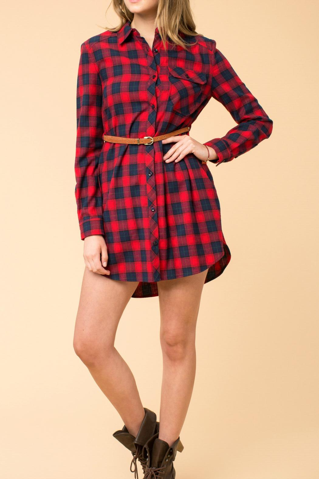 onetheland Red Flannel Dress from Branford by Polished — Shoptiques
