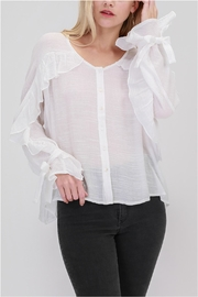 onetheland Ruffle Detail Blouse - Front cropped