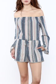 Shoptiques Product: Stripe Long Sleeve Romper