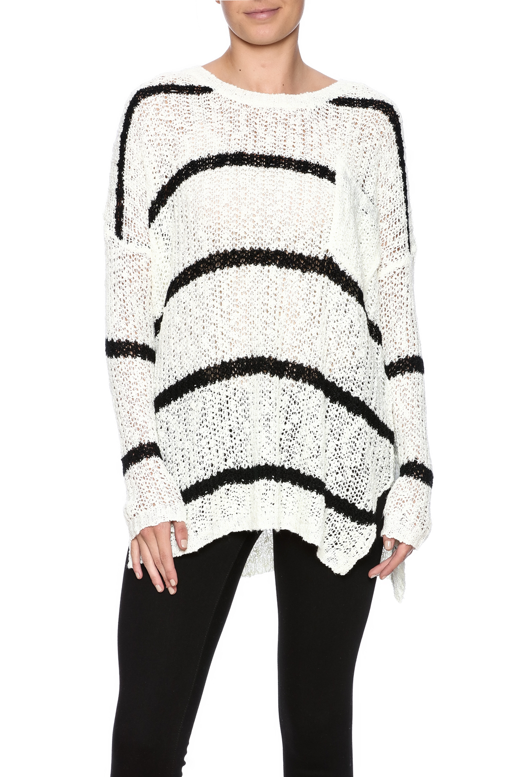 92eaa765c4db5 onetheland Loose Knit Stripe Sweater from New York by Dor L Dor ...