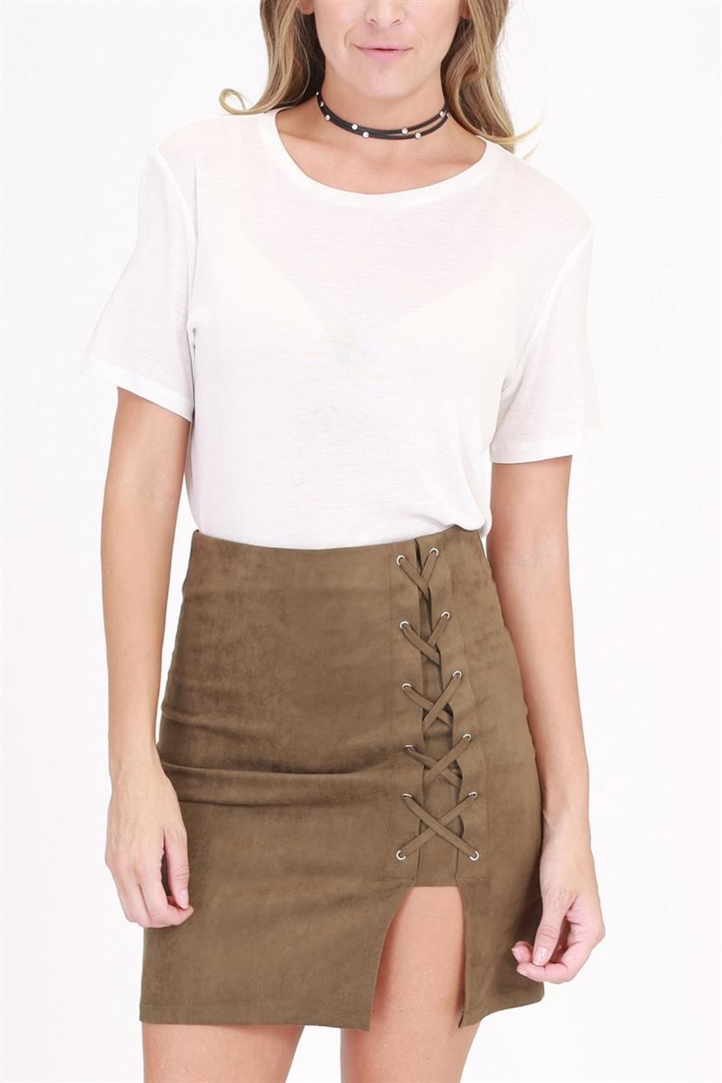 onetheland Tie Mini Skirt - Main Image