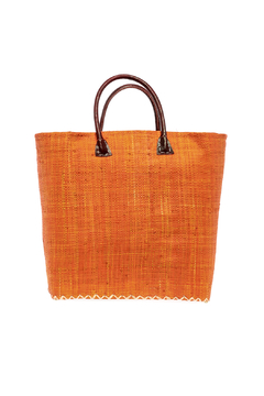 Shoptiques Product: Orange Straw Beach Tote