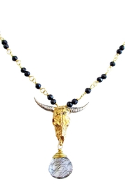 Malia Jewelry Onix-Quartz Bull Necklace - Product Mini Image