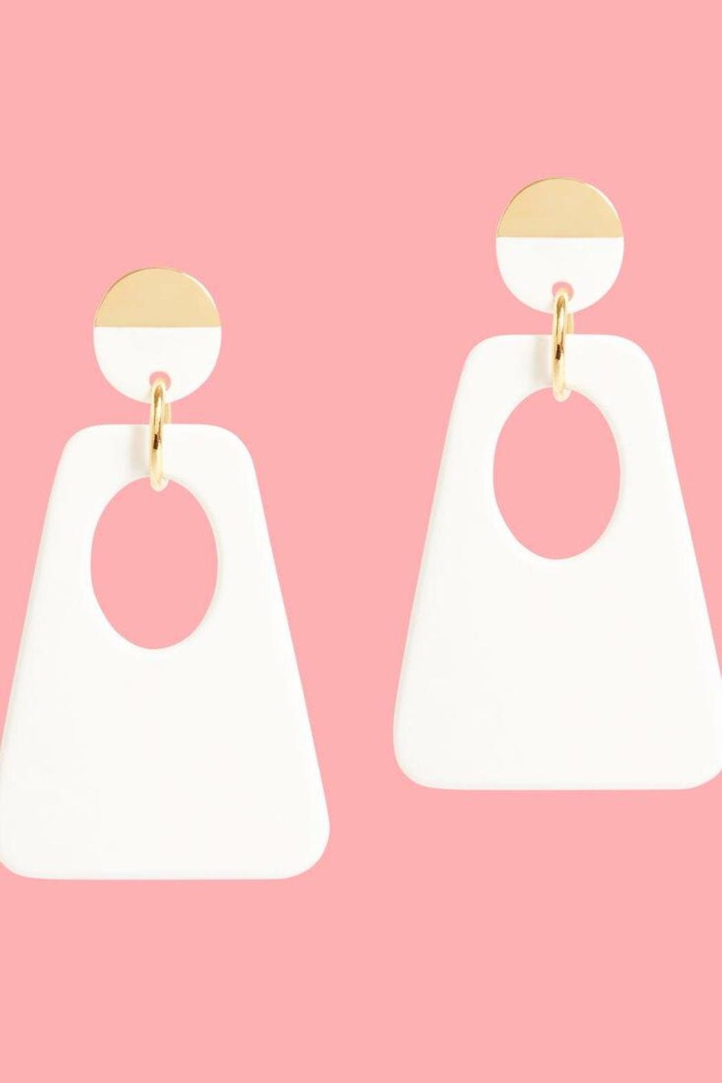 Onjenu Graphic Earrings - Front Full Image