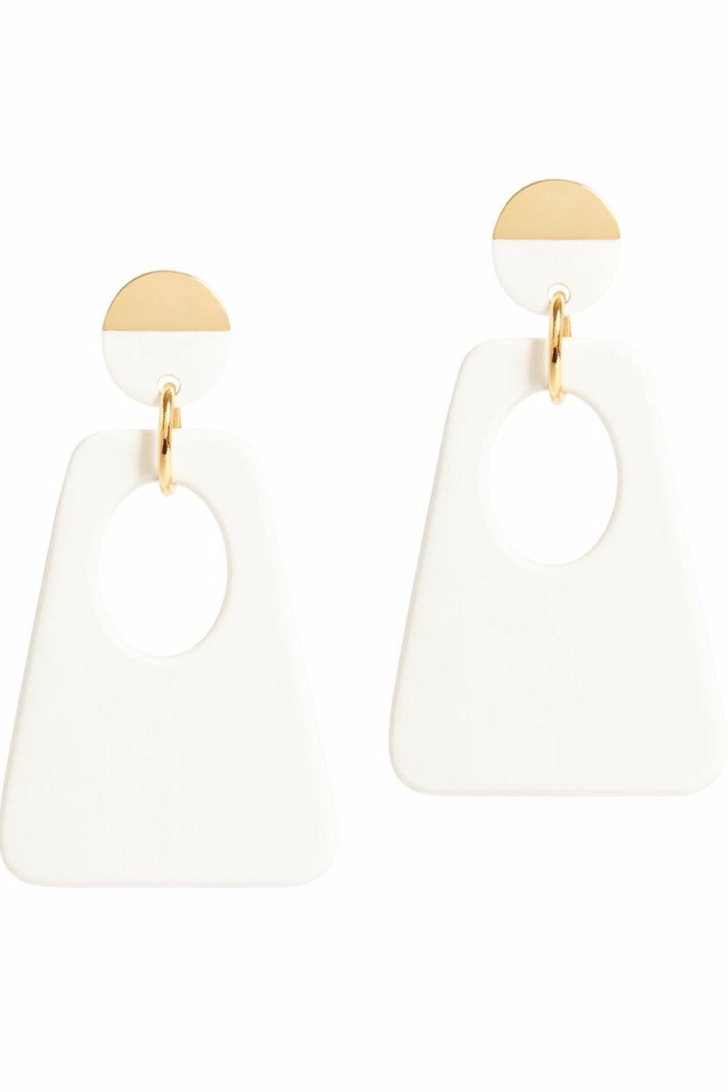 Onjenu Graphic Earrings - Front Cropped Image
