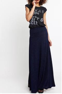 Shoptiques Product: Hayley Blue Shimmer Skirt