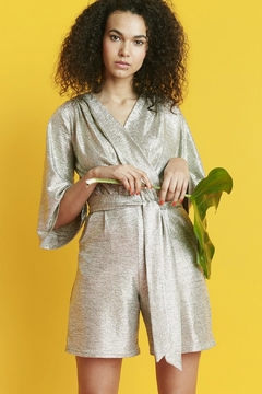 Onjenu Metallic Silver Playsuit - Alternate List Image