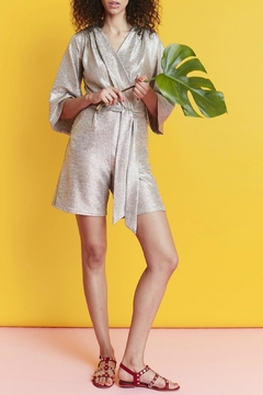 Onjenu Metallic Silver Playsuit - Product List Image
