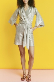 Onjenu Metallic Silver Playsuit - Front full body