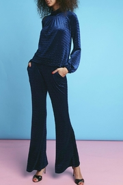 Onjenu Velvet Zigzag Trousers - Front full body