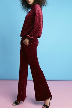 Onjenu Velvet Zigzag Trousers - Alternate List Image