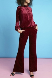 Onjenu Velvet Zigzag Trousers - Product Mini Image